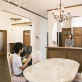 注文住宅 かっこいい工務店 不動産プラザ 施工例10e 造作オープンキッチン ダイニング
