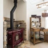 注文住宅 かっこいい工務店 不動産プラザ 施工例3d2 店舗併設 雑貨ショップ 暖炉