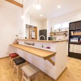注文住宅 かっこいい工務店 不動産プラザ 施工例9d オープンキッチン キッチンカウンター
