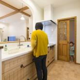 かっこいい工務店 不動産プラザ 施工例9e 造作オープンキッチン
