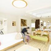 注文住宅 かっこいい工務店 福井建設の家 施工例1b リビングダイニング
