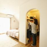 注文住宅 かっこいい工務店 福井建設の家 施工例3k 寝室 クローゼット