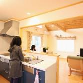 注文住宅 かっこいい工務店 福井建設の家 施工例h アイランドキッチン