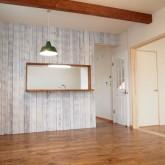 注文住宅 かっこいい工務店 福井建設の家 施工例8e リビング壁面 エイジング加工