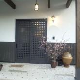 注文住宅 かっこいい工務店 在来工法 ブレス 成功例9 熊本県熊本市北区 ジャパニーズ エントランス