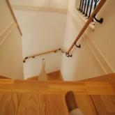 注文住宅 かっこいい工務店 オーダーメイド ミューズ建築工房 施工例2 二世帯 パウダールーム 階段