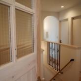 注文住宅 かっこいい工務店 オーダーメイド ミューズ建築工房 施工例2 二世帯 パウダールーム 二階ホール