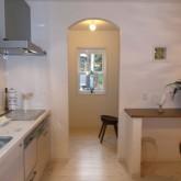 注文住宅 かっこいい工務店 オーダーメイド ミューズ建築工房 施工例3 ダイニングキッチン アーチ壁