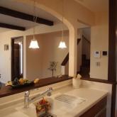 注文住宅 かっこいい工務店 オーダーメイド ミューズ建築工房 施工例5 オープンキッチン アーチ壁