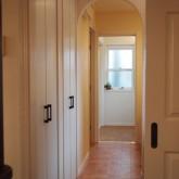 注文住宅 かっこいい工務店 オーダーメイド ミューズ建築工房 施工例5 廊下 アーチ壁