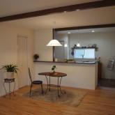 注文住宅 かっこいい工務店 オーダーメイド ミューズ建築工房 施工例6 ダイニングキッチン オープンキッチン