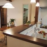 注文住宅 かっこいい工務店 オーダーメイド ミューズ建築工房 施工例6  造作キッチン