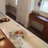 注文住宅 かっこいい工務店 オーダーメイド ミューズ建築工房 施工例6  造作キッチン シンク キッチンバック収納