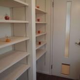 注文住宅 かっこいい工務店 オーダーメイド ミューズ建築工房 施工例6  パウダールーム 造作棚