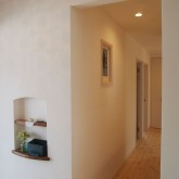 注文住宅 かっこいい工務店 オーダーメイド ミューズ建築工房 施工例7 エントランスホール ニッチ