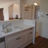 注文住宅 かっこいい工務店 オーダーメイド ミューズ建築工房 施工例7 アーチ壁 造作キッチン オープンキッチン シンク