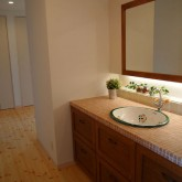 注文住宅 かっこいい工務店 オーダーメイド ミューズ建築工房 施工例7 パウダールーム 造作洗面