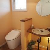 注文住宅 かっこいい工務店 オーダーメイド ミューズ建築工房 施工例7 トイレ 造作洗面