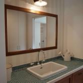 注文住宅 かっこいい工務店 オーダーメイド ミューズ建築工房 施工例9 パウダールーム 造作洗面