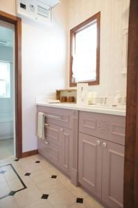 注文住宅のかっこいい工務店 Ie-Plan イエプラン モデルハウス 南仏スタイル 造作洗面