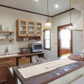 注文住宅 かっこいい工務店 Ie plan イエプラン 施工例10f オープンキッチン 造作キッチン カウンター