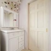 注文住宅 かっこいい工務店 ハウスデザイン Ie Plan イエプラン 施工例3f パウダールーム 造作洗面