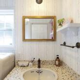 注文住宅 かっこいい工務店 ハウスデザイン Ie Plan イエプラン 造作洗面 モザイクタイル