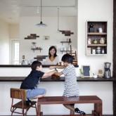 注文住宅 かっこいい工務店 ハウスデザイン Ie Plan イエプラン 施工例7f オープンキッチン カウンター