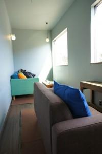 注文住宅 かっこいい工務店 規格住宅 ブレスホーム カフェ完成見学会 2階ソファー席