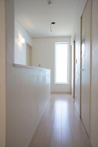かっこいい工務店 ハウスデザイン イエプラン 栃木県宇都宮市江曽島 モデルハウスオープン 2F 廊下