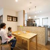 注文住宅 かっこいい工務店 輸入住宅 ブレス 施工事例 プロヴァンススタイル ダイニングキッチン 造作キッチン