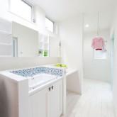 注文住宅 かっこいい工務店 輸入住宅 熊本 ブレス 施工事例 プロヴァンススタイル サニタリー 造作洗面