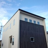 注文住宅 かっこいい工務店 規格住宅 熊本 ブレス 施工例 熊本市南区 シンプルモダン 外観