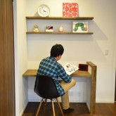 注文住宅 かっこいい工務店 規格住宅 熊本 ブレス 施工例 ナチュラルモダン 熊本市東区 ワークスペース2