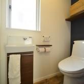 注文住宅 かっこいい工務店 規格住宅 熊本 ブレス 施工例 熊本市東区 ナチュラルモダン トイレ