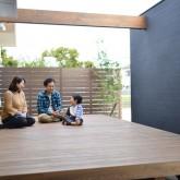 注文住宅 かっこいい工務店 規格住宅 熊本 ブレス 施工例 熊本市東区 ナチュラルモダン ウッドテラス