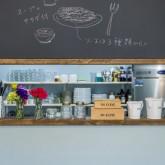 注文住宅 かっこいい工務店 規格住宅 熊本 ブレス 店舗併用住宅 banco CAFE バンコカフェ 店内 メニューボード 厨房
