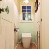 住宅 古川工務店 施工例15 プロヴァンススタイル トイレ