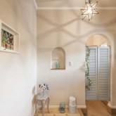 注文住宅 かっこいい工務店 栃木 ハウスデザイン イエプラン 施工例12 南仏タイプ 玄関ホール