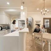 注文住宅 かっこいい工務店 栃木 ハウスデザイン イエプラン 施工例12 南仏タイプ ダイニング&キッチン