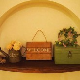 注文住宅 かっこいい工務店 鹿児島 ミューズ建築工房 かわいい家 オーダーメイド 施工例10 ニッチの飾り