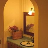 注文住宅 かっこいい工務店 鹿児島 ミューズ建築工房 かわいい家 オーダーメイド 施工例10 アーチ壁 造作洗面