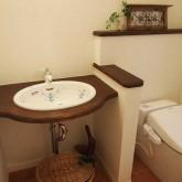 注文住宅 かっこいい工務店 鹿児島 ミューズ建築工房 かわいい家 オーダーメイド 施工例10 トイレ 造作洗面
