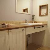 注文住宅 かっこいい工務店 鹿児島 ミューズ建築工房 かわいい家 オーダーメイド 施工例11 造作洗面