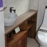 注文住宅 かっこいい工務店 宮城 富樫工業 施工例 26 ナチュラルモダン トイレ 造作洗面