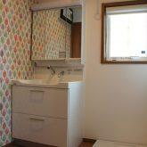 注文住宅 かっこいい工務店 宮城 富樫工業 施行例29 北米 アメリカン 造作洗面