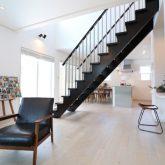 注文住宅 かっこいい工務店 栃木 イエプラン建築事務所 施工例12 ニューヨークスタイル ニューヨーカー ブリック リビング