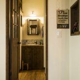 注文住宅 かっこいい工務店 熊本 ブレス ブレスホーム 施行例25 プロヴァンス サニタリースペース 造作棚 ニッチ 造作洗面