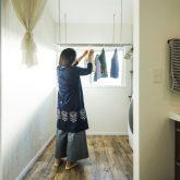 注文住宅 かっこいい工務店 熊本 ブレス ブレスホーム 施行例25 プロヴァンス 洗濯物 干す スペース