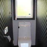 注文住宅 かっこいい工務店 宮城 富樫工業 施工例42 北米 アメリカンスタイル トイレ